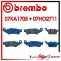 Pastiglie Freno Anteriore E Posteriore Brembo HONDA XL V TRANSALP 650 2000 2001 07KA1705 + 07HO2711
