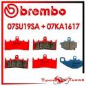 Pastiglie Freno Anteriore E Posteriore Brembo KAWASAKI ZX 9R 900 NINJA 1999 2000 07SU19SA + 07KA1617