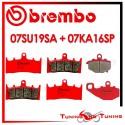 Pastiglie Freno Anteriore E Posteriore Brembo KAWASAKI ZX 9R 900 NINJA 2000 2001 07SU19SA + 07KA16SP