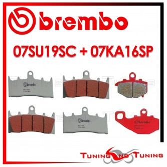 Pastiglie Freno Anteriore E Posteriore Brembo KAWASAKI ZX 9R 900 NINJA 1999 07SU19SC + 07KA16SP