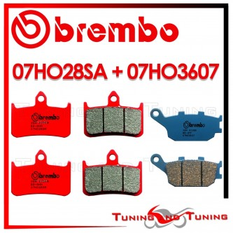 Pastiglie Freno Anteriore E Posteriore Brembo HONDA VTR F FIRESTORM 1000 1997 1998 07HO28SA + 07HO3607