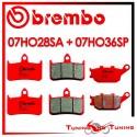 Pastiglie Freno Anteriore E Posteriore Brembo HONDA CB F BIG ONE 1000 1993 1994 07HO28SA + 07HO36SP