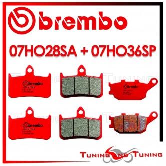 Pastiglie Freno Anteriore E Posteriore Brembo HONDA VTR F FIRESTORM 1000 1997 1998 07HO28SA + 07HO36SP