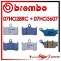 Pastiglie Freno Anteriore E Posteriore Brembo HONDA CB F BIG ONE 1000 1993 07HO28RC + 07HO3607