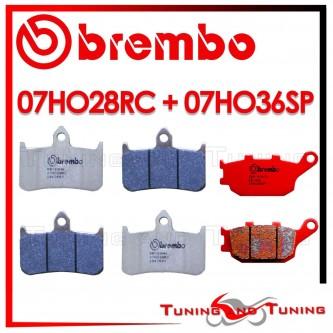 Pastiglie Freno Anteriore E Posteriore Brembo HONDA VTR F FIRESTORM 1000 1997 1998 07HO28RC + 07HO36SP
