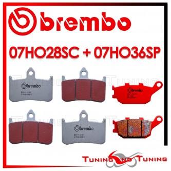 Pastiglie Freno Anteriore E Posteriore Brembo HONDA CB F HORNET 900 2002 2003 07HO28SC + 07HO36SP