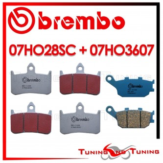 Pastiglie Freno Anteriore E Posteriore Brembo HONDA CB F HORNET 900 2002 2003 07HO28SC + 07HO3607