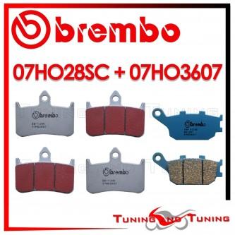 Pastiglie Freno Anteriore E Posteriore Brembo HONDA CB F BIG ONE 1000 1993 07HO28SC + 07HO3607