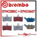 Pastiglie Freno Anteriore E Posteriore Brembo HONDA VTR F FIRESTORM 1000 1997 1998 07HO28SC + 07HO3607