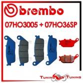 Pastiglie Freno Anteriore E Posteriore Brembo HONDA CBF N 600 2003 2004 2005 07HO3005 + 07HO36SP