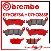 Pastiglie Freno Anteriore E Posteriore Brembo HONDA CBF S 600 ABS 2010 2011 07HO57SA + 07HO36SP