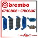 Pastiglie Freno Anteriore E Posteriore Brembo KAWASAKI Z 750 ABS 2011 2012 07HO3005 + 07HO3607
