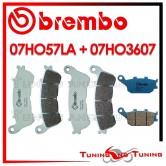 Pastiglie Freno Anteriore E Posteriore Brembo HONDA CB F HORNET 600 ABS 2007 2008 07HO57LA + 07HO3607