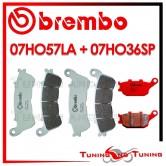 Pastiglie Freno Anteriore E Posteriore Brembo HONDA CBF S 600 ABS 2008 2009 07HO57LA + 07HO36SP