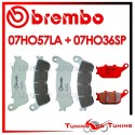 Pastiglie Freno Anteriore E Posteriore Brembo HONDA CBF 500 ABS 2004 2005 07HO57LA + 07HO36SP