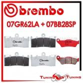 Pastiglie Freno Anteriore E Posteriore Brembo BMW R 850 R 2004 2005 2006 07GR62LA + 07BB28SP