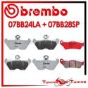 Pastiglie Freno Anteriore E Posteriore Brembo BMW R 1100 RT ABS 2000 2001 07BB24LA + 07BB28SP