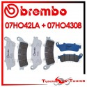 Pastiglie Freno Anteriore E Posteriore Brembo HONDA X ELEVEN 1100 2000 2001 07HO42LA + 07HO4308