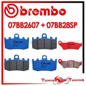 Pastiglie Freno Anteriore E Posteriore Brembo BMW R 850 RT INTEGRAL ABS 2001 2002 07BB2607 + 07BB28SP