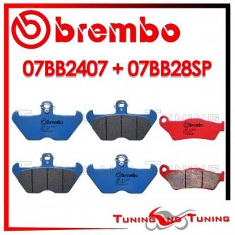 Pastiglie Freno Anteriore E Posteriore Brembo BMW R 850 R 1996 1997 1998 07BB2407 + 07BB28SP