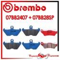 Pastiglie Freno Anteriore E Posteriore Brembo BMW R 1100 S 1998 1999 2000 07BB2407 + 07BB28SP