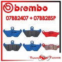 Pastiglie Freno Anteriore E Posteriore Brembo BMW R 1100 RT ABS 1994 1995 07BB2407 + 07BB28SP