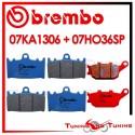 Pastiglie Freno Anteriore E Posteriore Brembo KAWASAKI VERSYS 1000 2012 2013 07KA1306 + 07HO36SP