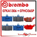 Pastiglie Freno Anteriore E Posteriore Brembo SUZUKI SV S 1000 2003 2004 2005 07KA1306 + 07HO36SP