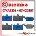 Pastiglie Freno Anteriore E Posteriore Brembo SUZUKI GSX F 650 2008 2009 07KA1306 + 07HO3607