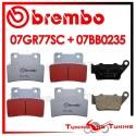 Pastiglie Freno Anteriore E Posteriore Brembo APRILIA SL SHIVER 750 2007 2008 07GR77SC + 07BB0235