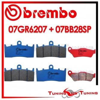 Pastiglie Freno Anteriore E Posteriore Brembo BMW R 850 R 2004 2005 2006 07GR6207 + 07BB28SP