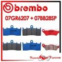 Pastiglie Freno Anteriore E Posteriore Brembo BMW K 1300 R ABS 2009 2010 2011 07GR6207 + 07BB28SP