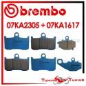 Pastiglie Freno Anteriore E Posteriore Brembo KAWASAKI ZX 9R 900 NINJA 2002 2003 07KA2305 + 07KA1617