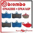 Pastiglie Freno Anteriore E Posteriore Brembo KAWASAKI ZX 9R 900 NINJA 2002 2003 07KA2305 + 07KA16SP
