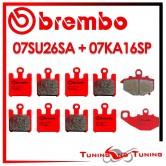 Pastiglie Freno Anteriore E Posteriore Brembo KAWASAKI ZX 6R 636 NINJA 2003 2004 07SU26SA + 07KA16SP