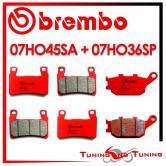 Pastiglie Freno Anteriore E Posteriore Brembo HONDA CBR 600 RR 2003 2004 07HO45SA + 07HO36SP