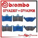 Pastiglie Freno Anteriore E Posteriore Brembo YAMAHA XT Z SUTENERE 1200 2010 2011 07YA2307 + 07YA3908