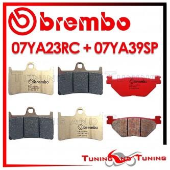 Pastiglie Freno Anteriore E Posteriore Brembo YAMAHA TDM 900 ABS 2005 2006 2007 07YA23RC + 07YA39SP