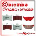 Pastiglie Freno Anteriore E Posteriore Brembo YAMAHA TDM 900 2002 2003 2004 07YA23SC + 07YA39SP