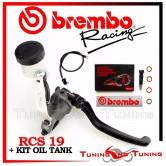 Pompa Freno Radiale Brembo Racing 19 RCS + Kit Serbatoio Olio Freni