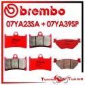 Pastiglie Freno Anteriore E Posteriore Brembo YAMAHA FJR 1300 2001 2002 07YA23SA + 07YA39SP