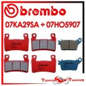 Pastiglie Freno Anteriore E Posteriore Brembo KAWASAKI ZX 6R 636 NINJA ABS 2013 2014 07KA29SA + 07HO5907