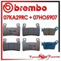 Pastiglie Freno Anteriore E Posteriore Brembo KAWASAKI ZX 6R 636 NINJA ABS 2013 2014 07KA29RC + 07HO5907