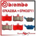 Pastiglie Freno Anteriore E Posteriore Brembo TRIUMPH STREET TRIPLE R 675 2009 2010 07KA23SA + 07HO2711