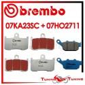 Pastiglie Freno Anteriore E Posteriore Brembo TRIUMPH STREET TRIPLE R 675 2011 2012 07KA23SC + 07HO2711