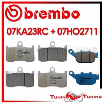 Pastiglie Freno Anteriore E Posteriore Brembo TRIUMPH STREET TRIPLE R 675 2009 2010 07KA23RC + 07HO2711
