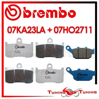 Pastiglie Freno Anteriore E Posteriore Brembo TRIUMPH DAYTONA 675 2006 2007 2008 07KA23LA + 07HO2711