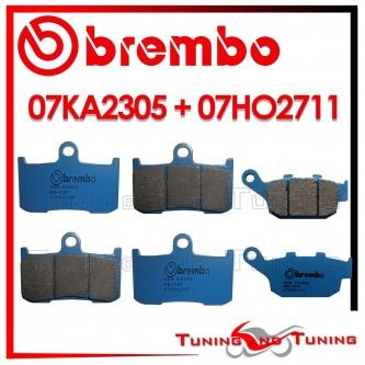 Pastiglie Freno Anteriore E Posteriore Brembo TRIUMPH STREET TRIPLE R 675 2009 2010 07KA2305 + 07HO2711