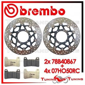 Dischi E Pastiglie Freno Anteriore Brembo HONDA CBR 1000 RR 2004 2005 78B40867 + 07HO50RC