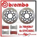 Dischi E Pastiglie Freno Anteriore Brembo HONDA CBR 600 RR 2005 78B40867 + 07HO50SC